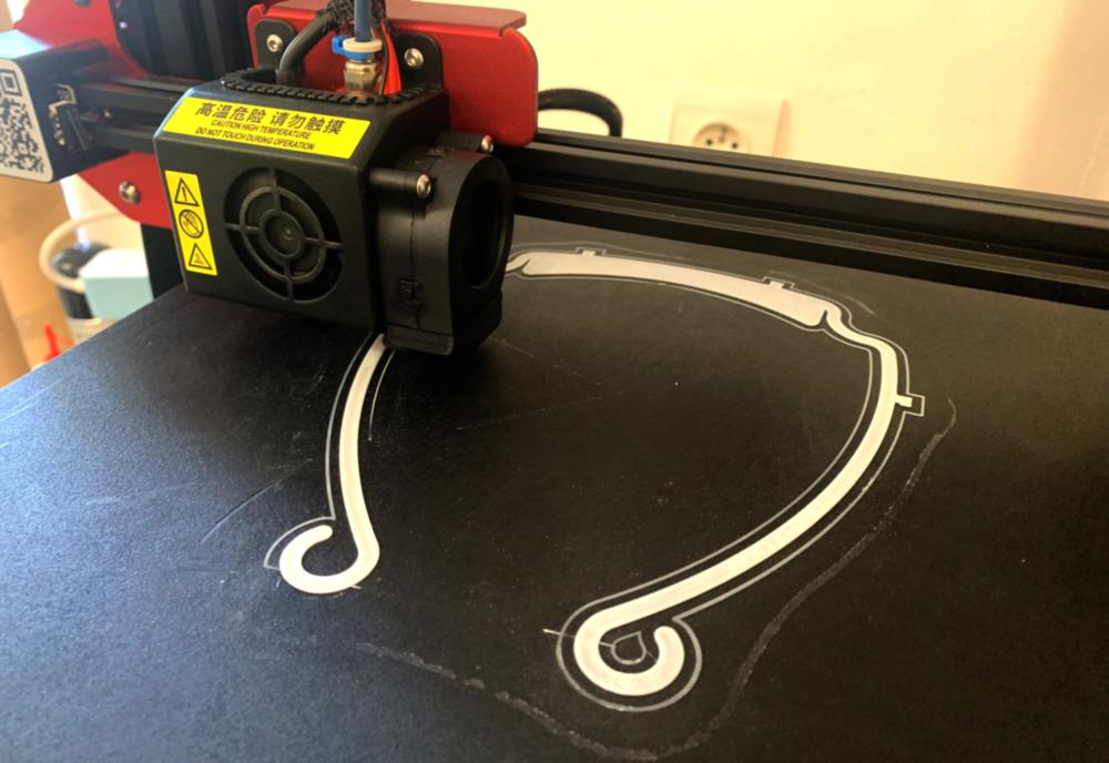 Impression 3D support de visiere